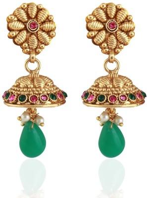 Variation Kundan Diamond Crystal Alloy Jhumki Earring