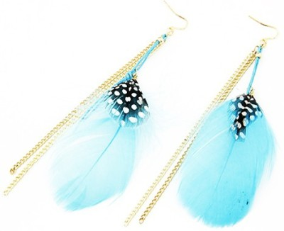 Cilver Fashion Trendy Feather And Chains Alloy Dangle Earring