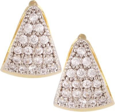 Fashionaya Diamond Bell Cubic Zirconia Alloy Stud Earring