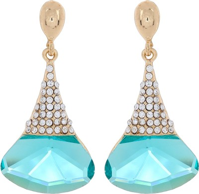 Kymarra Shining Beauty Diamond Brass Drop Earring