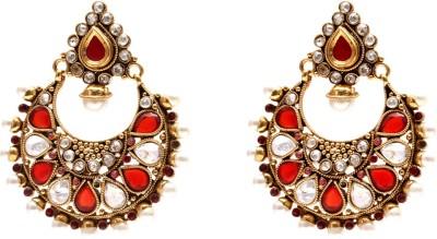 Mata Payals Round Antic Alloy Chandbali Earring