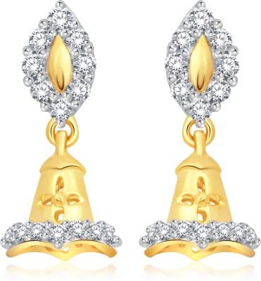 Classic Regal Gold And Rhodium Plated Jhumki for Women [CJ1023ERG] Cubic Zirconia Alloy Jhumki Earring