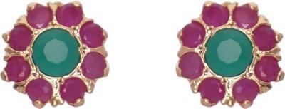 Janki Jewellers Fancy Stud Cubic Zirconia Alloy Stud Earring