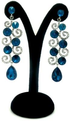 London Jewels Dangling Blue Alloy Drop Earring