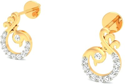 Gold n Stone The Mayura Diamond Gold Stud Earring