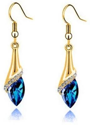 University Trendz Univ_E079 Crystal Alloy Dangle Earring