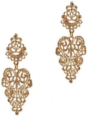 femnmas Celebrity Flower Lace Alloy Drop Earring