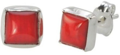 Albeli Impex Princess Design Coral Sterling Silver Stud Earring
