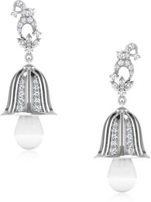 IskiUski All time favourite Jhumki Swarovski Crystal Sterling Silver Jhumki Earring