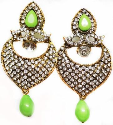 SB Fashions Green Diamond Earrings Brass Drop Earring