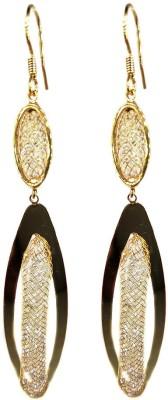 000 Fashions Golden Leaf shaped Alloy Dangle Earring
