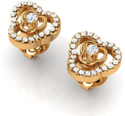 Arkina Diamonds Peace Trio Yellow Gold 18kt Diamond Stud Earring