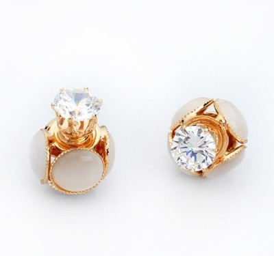 The Sparkle Connection Cateye Sparkle Cat's Eye Alloy Stud Earring