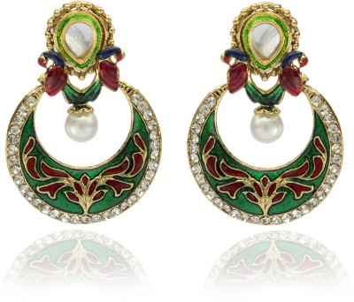 Veracious Jewellery Polki Meenakari Copper Chandbali Earring