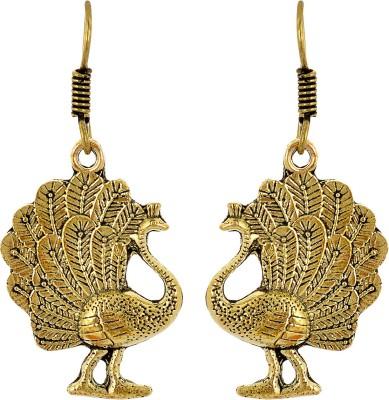 Subharpit Dancing Peacock Metal Dangle Earring