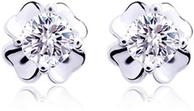 iSweven New Fashion Imitation Zircon Purple For Girls Four Leaf Clover Jewelry Alloy Stud Earring