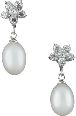 Krishna Pearls & Jewellers Pearl Alloy Drop Earring