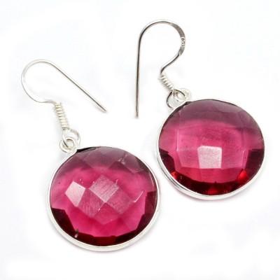 Silvesto India 1472 Quartz Sterling Silver Dangle Earring