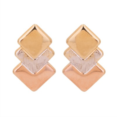 Adwitiya Collection Spring Sparkle Copper Stud Earring