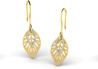 Sparkles Beautiful Pressure set Yellow Gold 18kt Diamond Dangle Earring