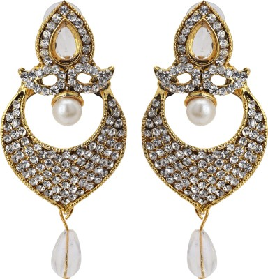Fashionista Gurl Finely-detailed Sapphire Alloy Huggie Earring
