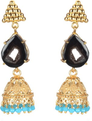 Jaipur Couture Lucy and turquoise Brass Jhumki Earring