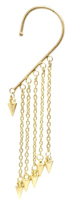 Fashion Era Golden sparkling Metal Cuff Earring