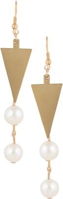 Castle Street Tassels With Pearls Alloy Dangle Earring