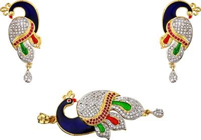 Foxy Princess Cut American Diamond Alloy Stud Earring