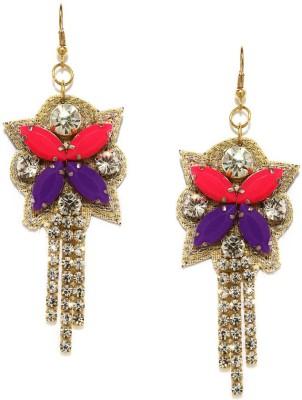 Blissdrizzle Pink & Purple Alloy Dangle Earring