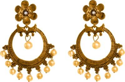 GemRoute Diva Pearl, Zircon Alloy Chandelier Earring