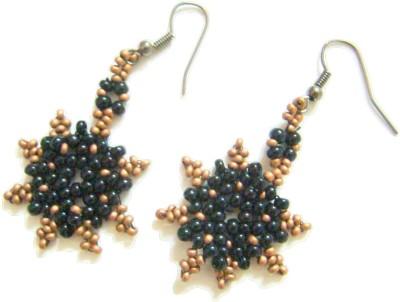 Store Utsav Black Star Resin Dangle Earring