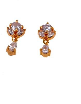 PFJ PFJ3017-EARRING Cubic Zirconia Brass, Copper Drop Earring