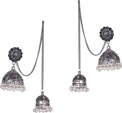 STUDIOB40 Handcrafted Kashmiri Style Alloy Jhumki Earring