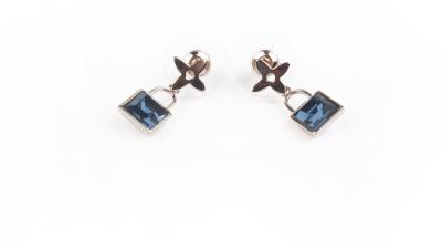 Jewelfin Blue Lock Alloy Drop Earring
