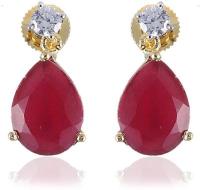 Vastradi American Diamond Brass Drop Earring