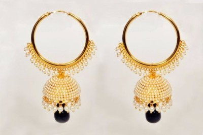 Bejeweled Polki Copper Jhumki Earring