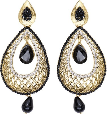 Mitthi Jewels Party Wear Black Traditional Type Designer Earrings Alloy Drop Earring