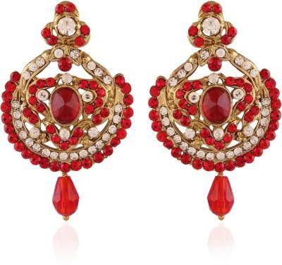 I Jewels Stone Alloy Chandbali Earring
