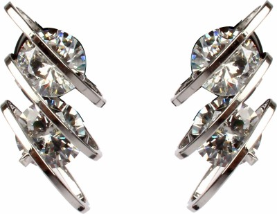 Divitha Allure sliver metal trendy ear studs from Divitha Allure. Alloy Stud Earring