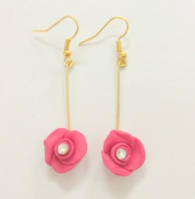 Craffiti Rose Clay Ceramic Dangle Earring