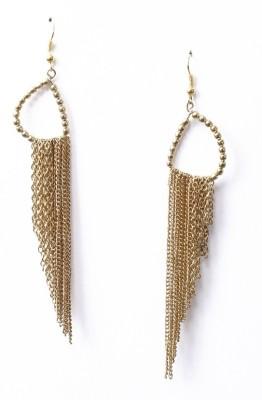 Crenz Boho design Metal Tassel Earring