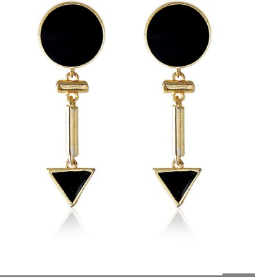 Crunchy Fashion Jet Cheering Decadic Alloy Drop Earring