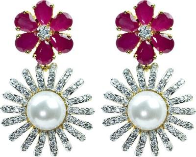 Womanwa Stylish Floral Metal Drop Earring