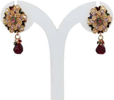 Anjan Perfect Designer Golden Alloy Drop Earring