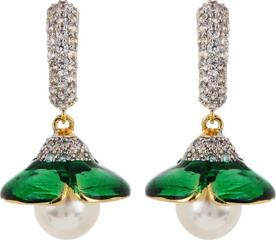 Adwitiya Collection Summer Delight Cubic Zirconia Copper Jhumki Earring