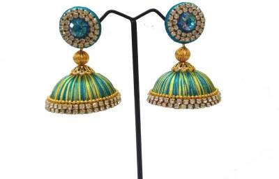 Ovis Creations JUMO JUMKKA SILK THREAD Silk Dori Jhumki Earring