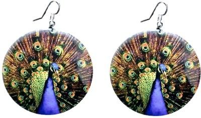 FashBlush Forever New Peacock Print Alloy Dangle Earring