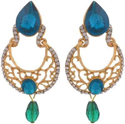 Blacksmith Blue Topaz Crystal Metal Drop Earring