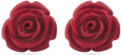 D&D Floral Chunky Copper Stud Earring